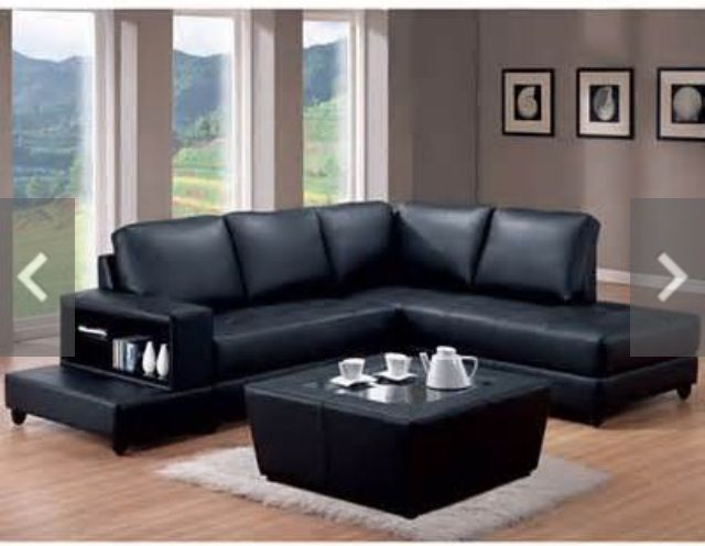Grey Walls Black Couch Home Colors Ideas
