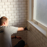 Grouting Beveled Subway Tile Incredibly Wasteful Because The