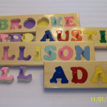 Hand Crafted Personalized Wooden Name Puzzles Webbereduproducts