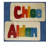 Hand Crafted Wooden Name Puzzles For Sale Edmonton Alberta