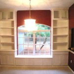 Hand Made Custom Built Bookcases Window Seat Natural Mystic