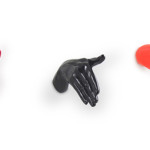 Hand Shaped Wall Hooks And Kitchen Utensils Shapes