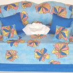 Handmade Tissue Box Couch Cover Blue Funky Mymidnightdesigns