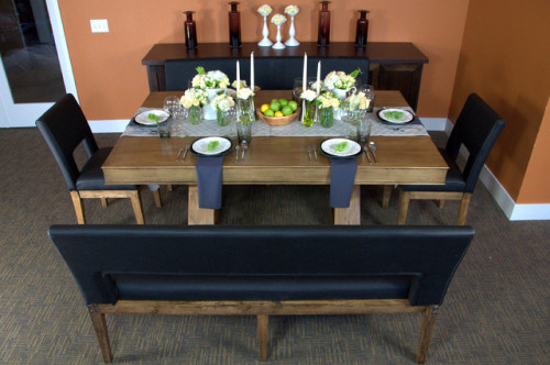 Helmsley Poker Dining Set Contemporary Tables
