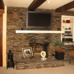 Help Interior Stone Wall Fireplace This Full