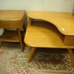 Heywood Wakefield Corner Table And Lamp Lot