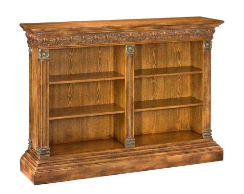 High End Furniture Renaissance Bookshelf Walnut Solid Oak Veneer Cast