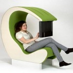 High Tech Chair For Multimedia Office Fresh Green Color Space