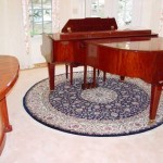 Highlighting Piano Round Area Rug Work For Online Store