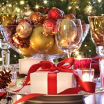 Holiday Table Settings And Christmas Decorations