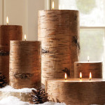 Home Christmas Decorations Rustic Candles