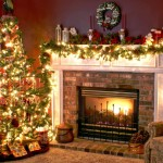 Home Christmas Tree Decorated Lovely And