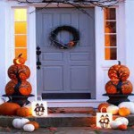 Home Fall Decorating Ideas Outdoor Pumpkins Via