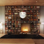 Home Library Fireplace Design Ideas Jay