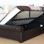 Home Richmond Faux Leather Ottoman Storage Bed