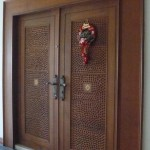 Home Unique Hand Carved Solid Wood Double Anchored Front Doors