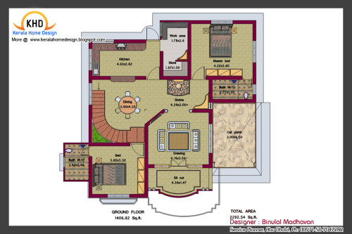 House Plan And Elevation Home Appliance