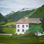 House The Alps Painting Palma Poochigian