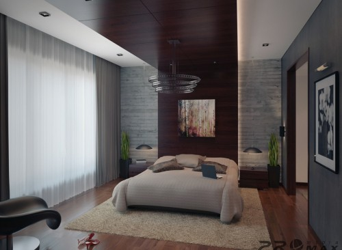House Tours Modern Apartment Bedroom Furry Rug Design Three
