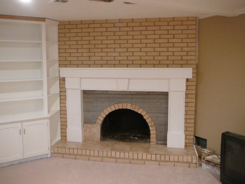 How Cover Brick Fireplace Drywall Ideas