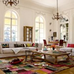 How Decorate Large Living Room White Rug Wood