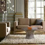 How Decorate Your Living Room Roung Glass Table Rug