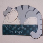 Humorous Sign Wood Home Decor Wall Hanging Cat Sawdusted