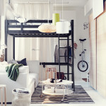 Ideas Big Living Small Space Bedroom Ikea Bed For