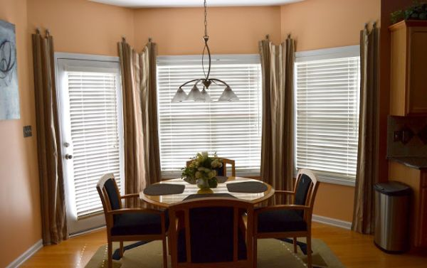 Ideas For Bay Windows Picture Window Treatment