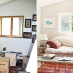 Ideas For Small Spaces Before After Living Room White Paint