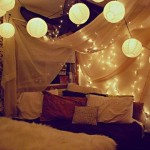 Ideas Hang Christmas Decoration And Lights Bedroom Picture