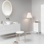 Ideas Modern Creative Extendable Oval Mirrors White Room Design