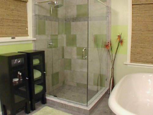 Ideas Small Bathroom Decorating Green Brown Wall Color