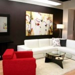 Ideas Small Home Decoration Living Room Wall Black Color