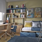Ideas Space Decorating Beige And Sky Blue Small Bedroom