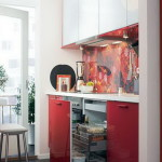 Ikea Small Kitchens Easy Design For Space Red