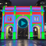 Image Video Projection Mapping Building