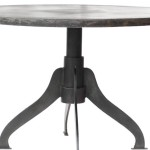 Industrial Design Round Metal Dining Table Modern Tables