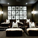 Inspirational Modern Home Movie Room Design From Turner David