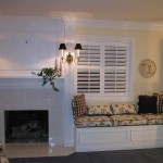 Interior Decorating Fireplace Mantle Pullout Closet White Laquer