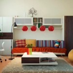 Interior Design Creative Home Office Red Color Ideas And