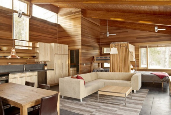 Interior Design Wood Where Everything Including Floors Wall