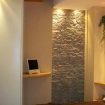 Interior Natural And Exotic Wall Stone Home Design