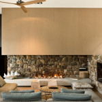 Interior Stone Wall Adds Rustic Touch Modern Interiors