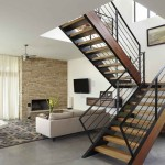 Interior Wood Stairs Design For Terraces Home