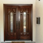 Intricate Mahogany Front Doors Replaced Whole House Remodel