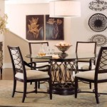Intrigue Round Glass Top Dining Set Rooms Outlet