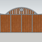 Ironside Craftsman Style Gate Design
