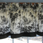 Items Similar Scenic Black White Toile Valance Drapery