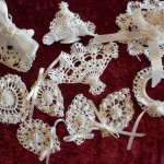 Items Similar White Crocheted Lacy Christmas Tree Ornaments